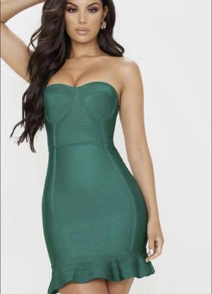 Шикарное бандажное платье