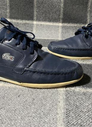 Мужские кожаные туфли lacoste1 фото