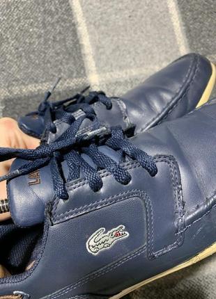 Мужские кожаные туфли lacoste8 фото
