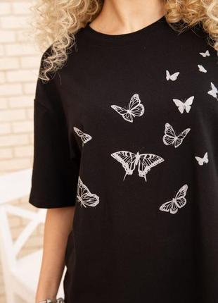 Натуральная новая черная футболка все размеры