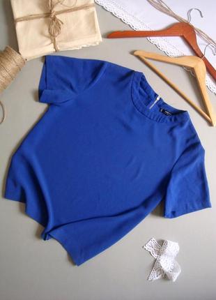 Базовая блуза с коротким рукавом цвета ультрамарин l xl