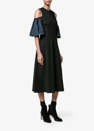 Стильное платье ganni с открытыми плечами xs, s, m, l сукня плаття