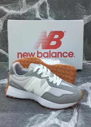 Женские кроссовки new balance 327 серые, осенние, замшевые1 фото
