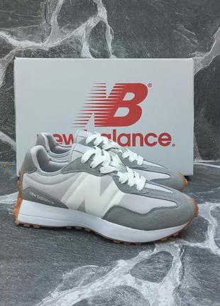 Женские кроссовки new balance 327 серые, осенние, замшевые3 фото