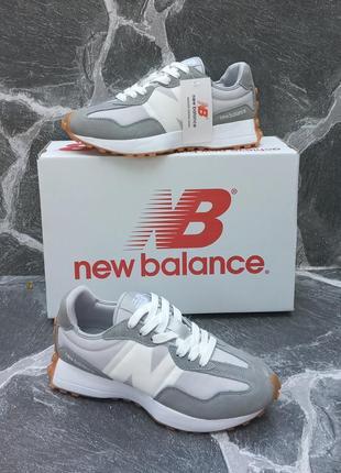 Женские кроссовки new balance 327 серые, осенние, замшевые2 фото