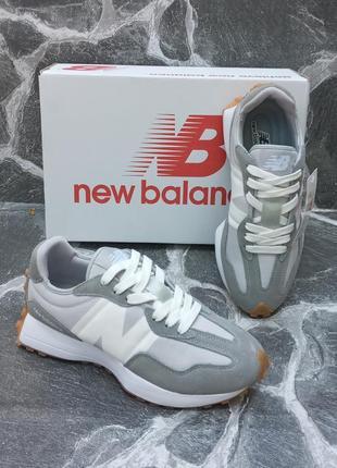 Женские кроссовки new balance 327 серые, осенние, замшевые4 фото