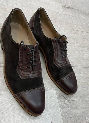 Туфлі з натуральної шкіри та замші шкіряні замшеві туфли кожаные замшевые