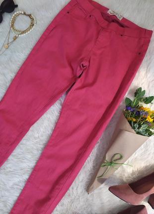 Розовые джинсовые лосины леггинсы размер m бренд leggings
