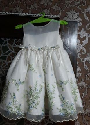 Нежное платье на 1 годик4 фото