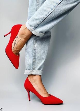 Туфли красные на шпильке