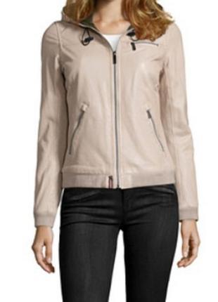 Новая пудровая кожаная куртка oakwood 100% кожа+мембрана thinsulate™ пудра непродуваемая