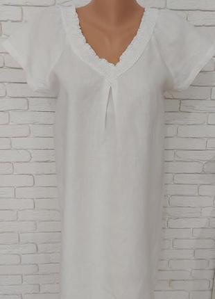 Белое льняное платье,р.м,лондон