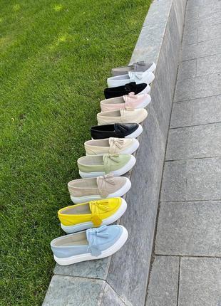 💥 шикарные туфли лоферы мокасины натуральная кожа замша