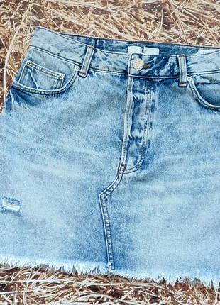 Новая джинсовая юбка h&m. размер 36.