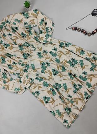 Платье миди красивое трикотажное в принт h&m xl