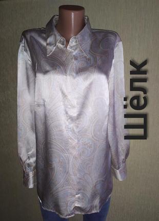 Фирменная нежная блуза из натурального шелка, р.44-46