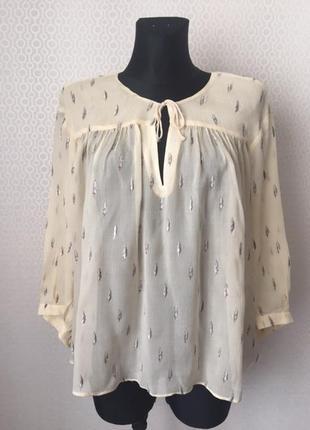 Шелковая блуза ванильного цвета от & other stories, размер 40, укр 46-48