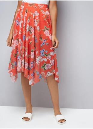 Новая с биркой трендовая летняя юбка в принт new look