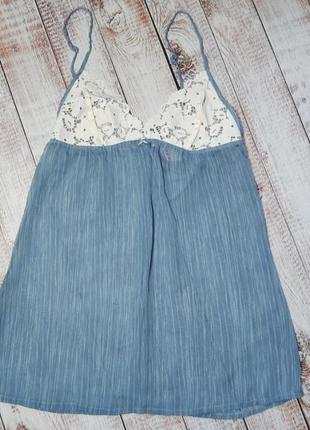 Женский пеньюар неглиже ночная рубашка с кружевом esmara германия р. 80с