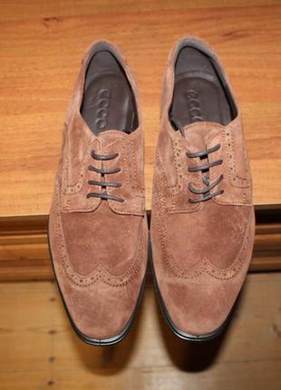 46 ecco melbourne оригинальные кожаные туфли