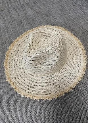 Шляпа из соломы федора 2021 с пушистыми краями