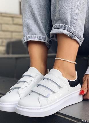 Кроссовки белые на липучках кеды на липучках качество отличнейшее мегаудобные