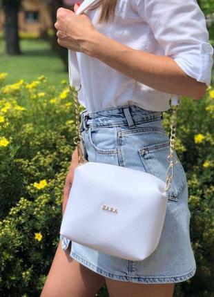 Новый белый клатч, сумочка через плечо