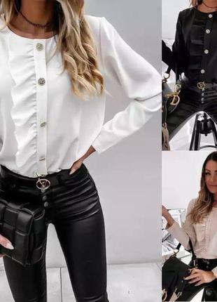 Блузка чёрный , белый  и беж