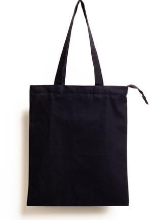 Шоппер чёрный экосумка / шоппер, екосумка