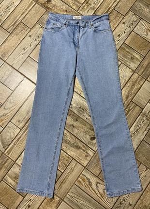 Оригинальные голубые джинсы стрейч,прямой крой,высокий рост,john baner