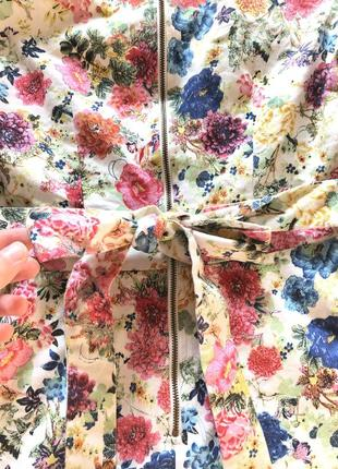 Шикарное платье в цветочный принт в стиле винтаж хлопок4 фото