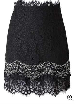 Кружевная юбка трапеция sandro  paris3 фото