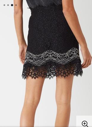 Кружевная юбка трапеция sandro  paris4 фото