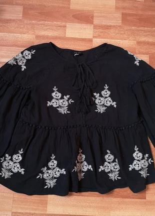 Вышитая блуза new look