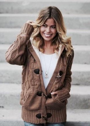 Camel sweater / коричневый свитер кардиган m 38