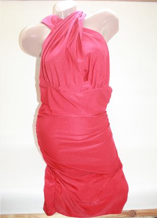 Новое красное платье трансформер 13 вариантов вечернее, коктейльное на новый год (к000)
