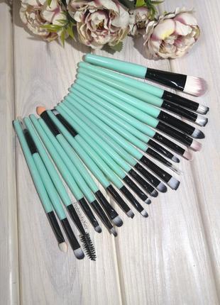 20 шт blue/black кисти для макияжа набор probeauty