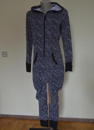 Красивая коттоновая пижама комбинезон кигуруми skin to skin
