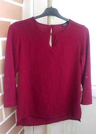 Блуза бордовая с укороченным рукавом италия s m l