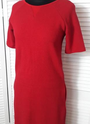🍀 распродажа! красивое красное платье benetton