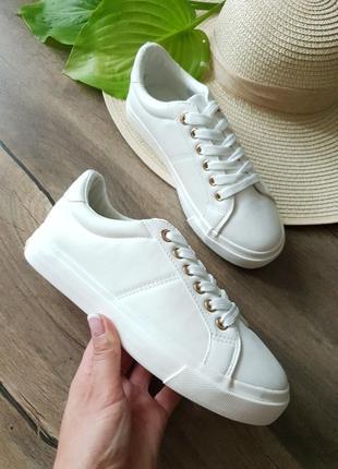 Белые кроссовки topshop, англия 37размер
