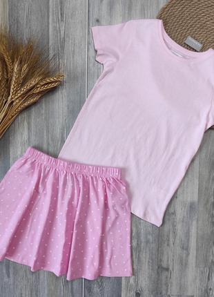 Базовая розовая футболочка