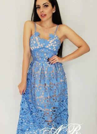 Платье сарафан кружево