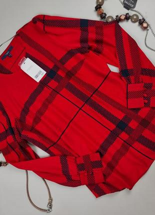 Блуза новая красивая нарядная красная next uk 12/40/m