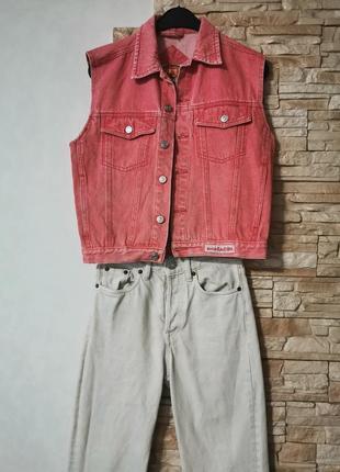 Джинсовая жилетка, джинсовый жилет