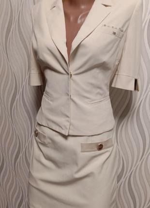 Elizabetta franchi дизайнерский костюм юбка и пиджак
