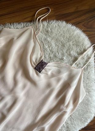 Шёлковая ночнушка ночная 100% шёлк размер м calvin klein
