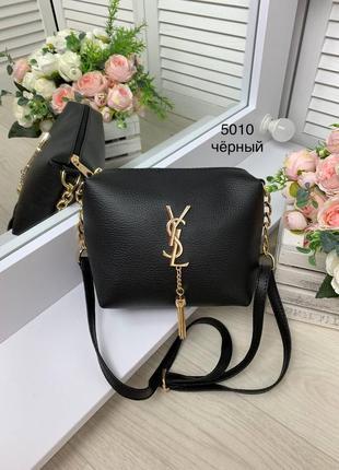 Женская сумка клатч прогулочная черная