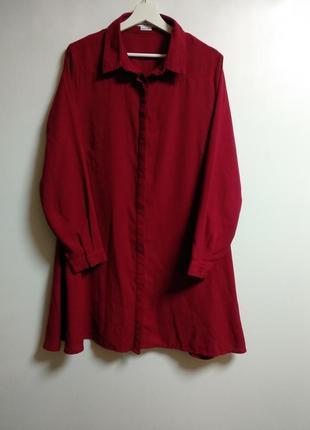 Платье рубашка скрытые пуговицы 18/52-54 размера