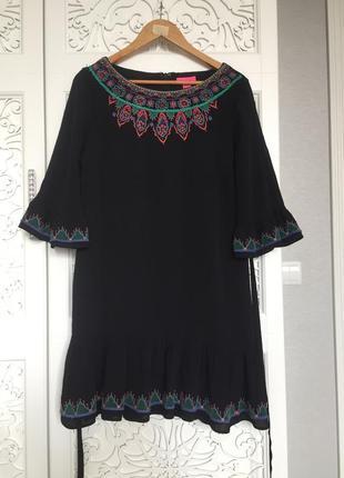 Платье вискоза вышивка monsoon